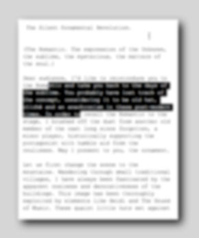 Text Document out of Focus